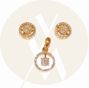 Diamond Pendant Set (DIP.R5520) (DIER.G6248)