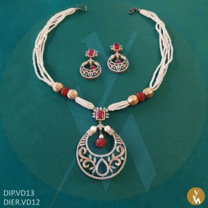 Diamond Pendant Set (DIP.VD13) (DIER.VD12)