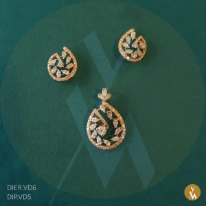 Diamond Pendant Set (DIP.VD5) (DIER.VD6)