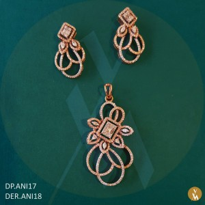 Diamond Pendant Set (DP.ANI17) (DER.ANI18)