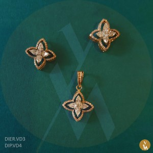 Diamond Pendant Set (DIP.VD4)(DIER.VD3)
